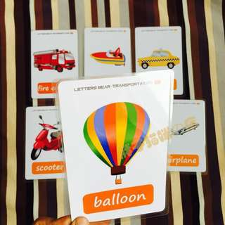 🎃 🌈TRANSPORTATION🌈FLASH CARDS(18PCS)