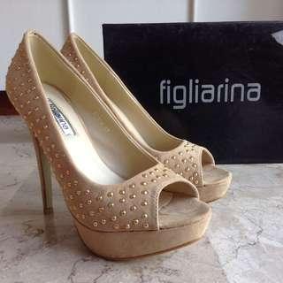 Figliarina Beige High Heels Shoes