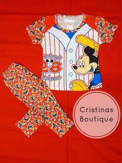 Mickey Baseball Sleepwear Set