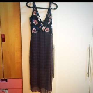 BNWT Zara Floral & Plaids Dress