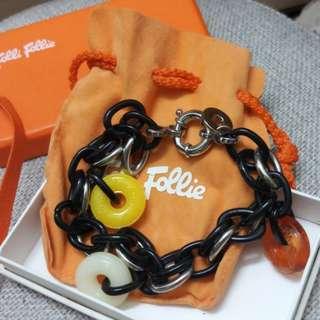 Folli follie糖果膠鎖鏈款手鏈 甜美清新 少女風