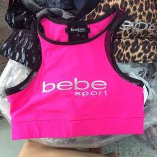 Authentic Bebe Hot Pink Sports Bra
