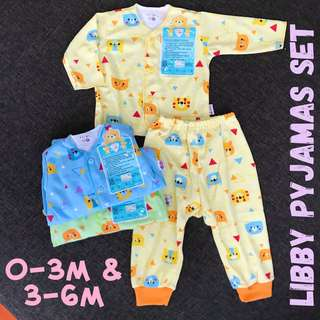 Newborn 3-6m Libby Pyjamas baby infant top bottom