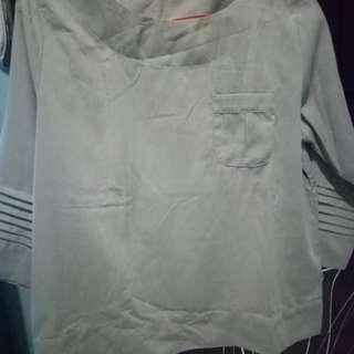 Bluse wanita grey