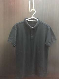 Folded & Hung black polo shirt