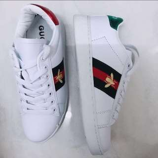 Brand New Gucci Ace Bee Embroidery Sneakers Shoes Shoe Sneaker #Fesyen50