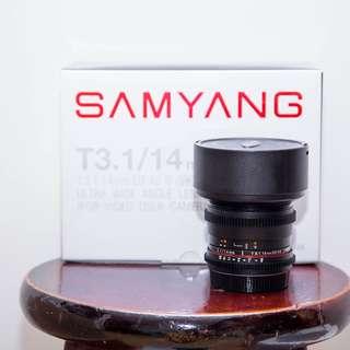 Samyang 14mm T3.1 ED AS IF UMC Canon 超廣角定焦手動電影鏡頭