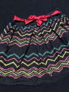 **Patterned Navy Blue Skirt