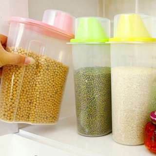 Plastic Transparent Large sealed tank grain jar grains storage box
