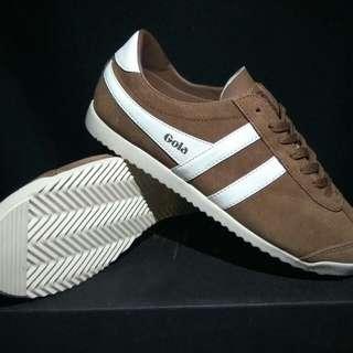 sepatu sneaker casual Gola Bullet brown suede