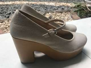 REPRICE Handmade Mary Jane Block Heels