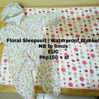 Sleepsuit and Waterproof Blanket