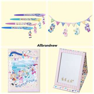 PO Japan disneysea Duffy, Shelliemay, gelatoni And Stella Lou parade band stationary