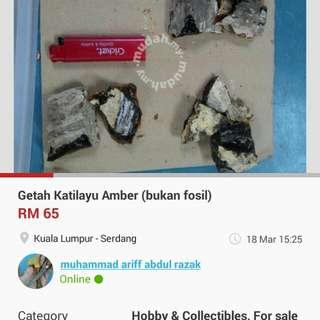 Getah Katilayu (bukan fossil)