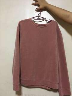 h&m suede sweatshirt