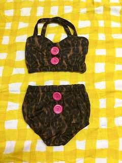 2 piece toddler kids swimwear/swimsuit