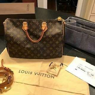 Louis Vuitton Speedy 35 Bandouliere Monogram Crossbody Handbag