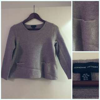 Adrienne Vittadini Wool Semi Crop pullover Sweater