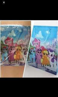 Instock My Little Pony goodies bag can put A4 Book Brand New