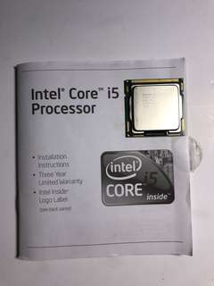Original Intel Core i5 Processor with Free Cooler Master CPU fan
