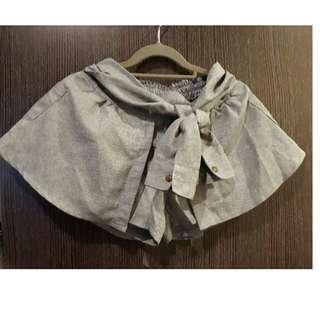 襯衫袖短褲裙
