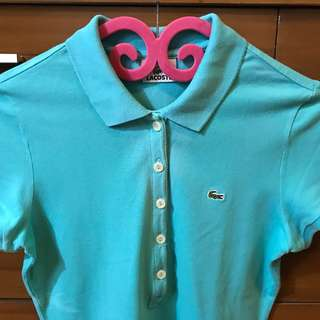 Authentic Lacoste 5 Button Polo Shirt in Thalassa Green Size 38