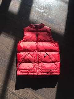 Vintage red puffer vest