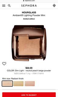 Hourglass Mini Ambient Lighting Powder in Dim Light
