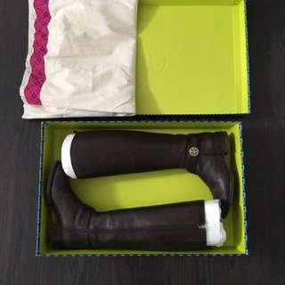 """Tory Burch """"Bristol"""" Leather Riding Boot"""