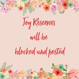 No To Joy Reservers Ang Bogus Buyers!