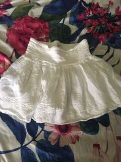 💯Authentic American Eagle Outfitter Boho White Skirt