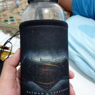 Botol kaca Superman Vs Batman