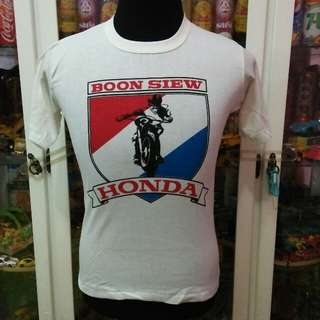 Vintage NOS 80's Malaysia Item Honda Boon Siew Motor T Shirt
