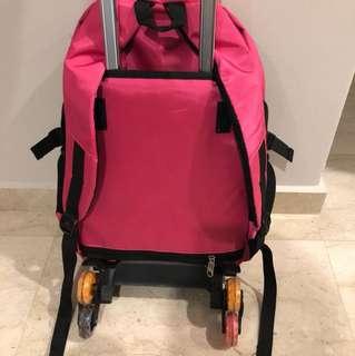 School bag with 6 wheels