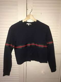Gucci inspired cropped sweater