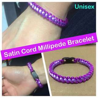 Satin Cord Millipede Bracelet (buckle optional; can make using Paracord too) [ gifts handmade uncle.anthony uncle anthony uac 2bump]