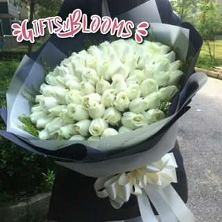 Fresh Flower Bouquet Anniversary Birthday Flower Gifts Graduation Roses Sunfowers Baby Breath -  449E8