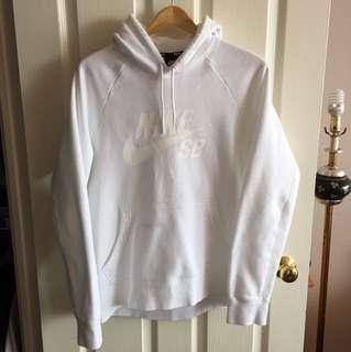 *REDUCED* Nike authentic sb white sweatshirt sweater hoodie