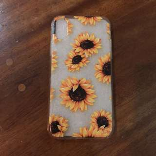 Iphone x sunflower case