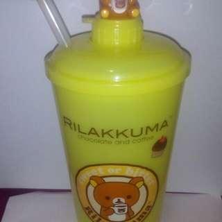 拉拉熊冷溫水杯(黃色)