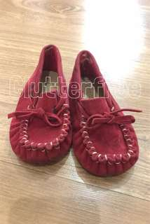 No brand infant girls boat shoes in red
