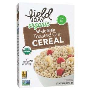 Field Day Organic Toasted O's Whole Grain Cereal, 387g