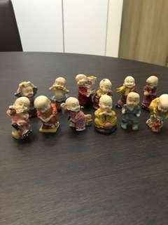 Vintage Clay Monks Collection