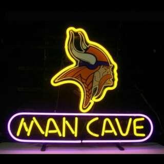 Neon lighting man cave decor