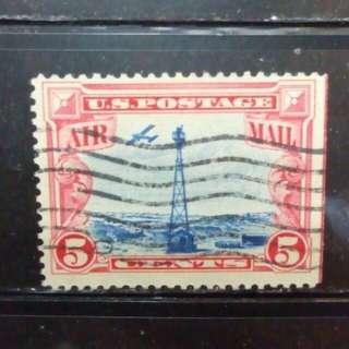 [lapyip1230] 美國古典航空票 1929年 伍美仙 VFU