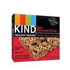 Kind Healthy Grains Granola Bar, Dark Chocolate Chunk, 1.2 oz, 5 Count