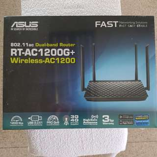 Asus Router RT AC1200G+ Dual-band Wireless - AC1200 Gigabit