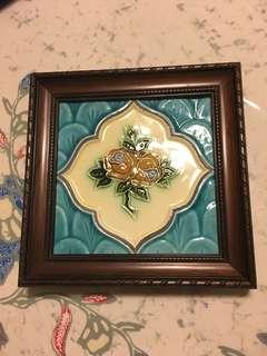 Vintage Peranakan Tile Framed