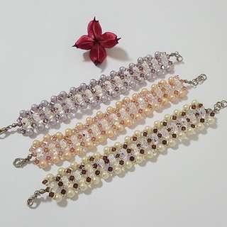 Swarovski Elements Pearl with Crystal Bracelet