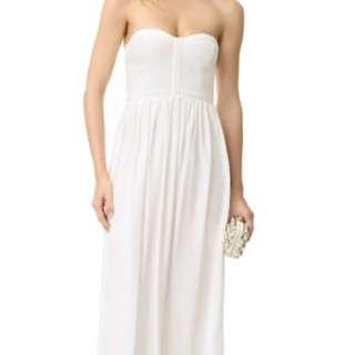 全新現貨 Parker純絲白色長洋裝